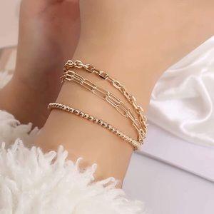 4 Bracelets 14K Gold Set
